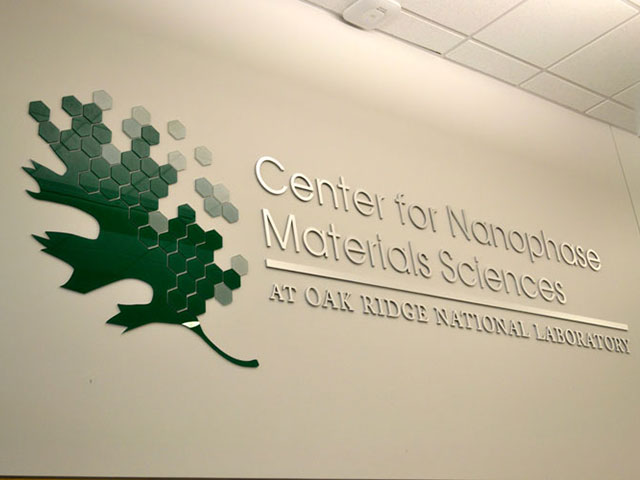 Center for Nanophase Materials Sciences Signage